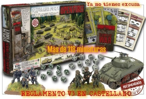 Caja de iniciación Open Fire de Flames of War