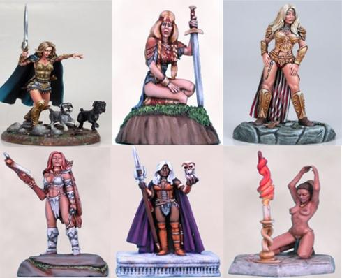 Miniaturas femeninas de Dark Sword