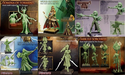 Miniaturas femeninas de la empresa Avatar of War