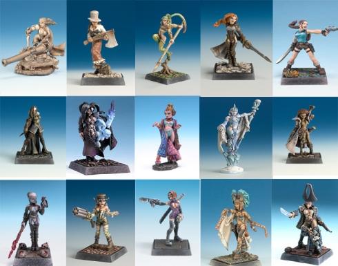 Figuras femeninas de la empresa Freebooter