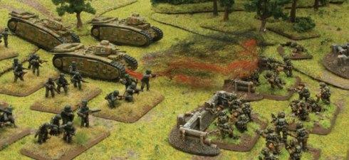 Ejército alemán avanzando frente a los paracaidistas británicos de Flames of War