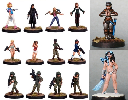 Miniaturas femeninas de Hasslefree Miniatures