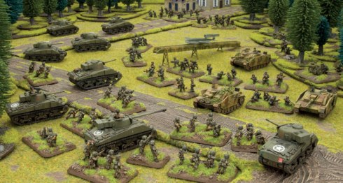 Figuras que contiene el Open Fire en castellano de Flames of War