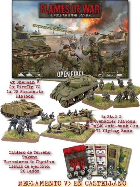 Caja Open Fire en español de Flames of War