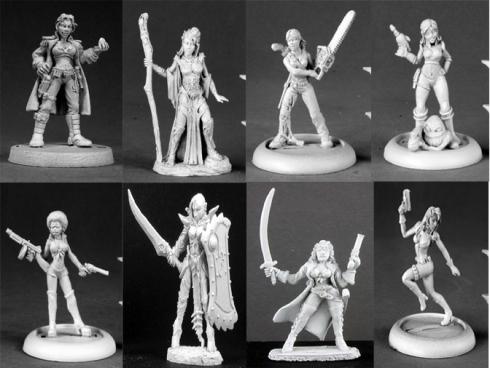 Miniaturas femeninas de Reaper