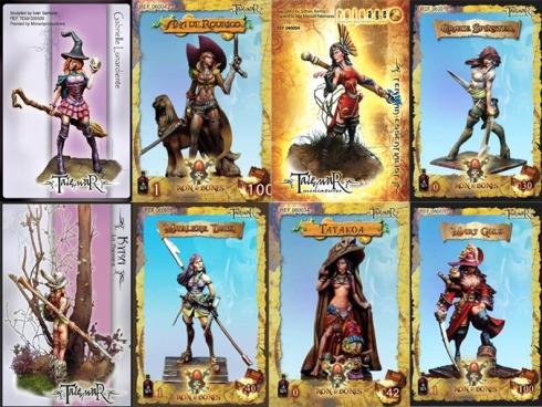 Miniaturas femeninas de Tale of War y Ron and Bones