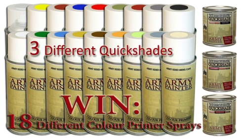 Toda la gama de colores de sprays y quickshades de The Army Painter