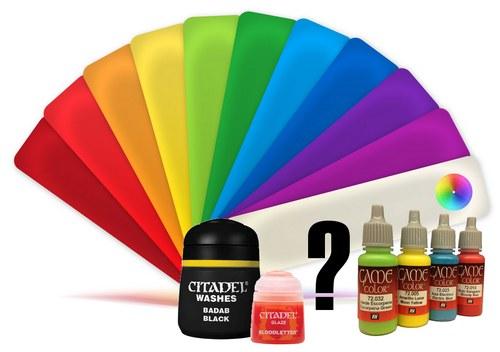Tabla de equivalencia para pinturas e minis magazine for Tabla colores pintura