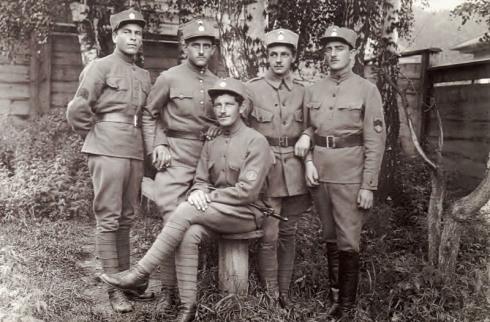 Fotografía de soldados de la Legión Checa en la Primera Guerra Mundial