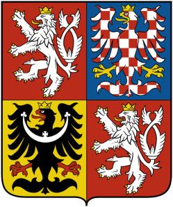 El actual escudo de la República Checa contiene algunas de las insignias que se han mencionado anteriormente: león de Bohemia, las águilas de Moravia y Silesia.