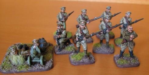 Miniaturas de la Legión Checa de la empresa Copplestone Casting, pintadas por Grimnir del foro Lead-adventure