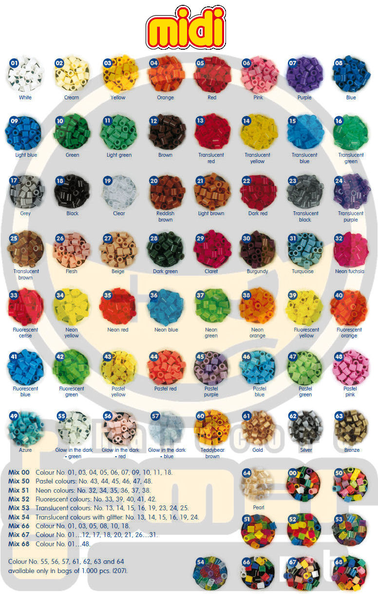Tutorial de hama beads e minis magazine - Como hacer colores ...
