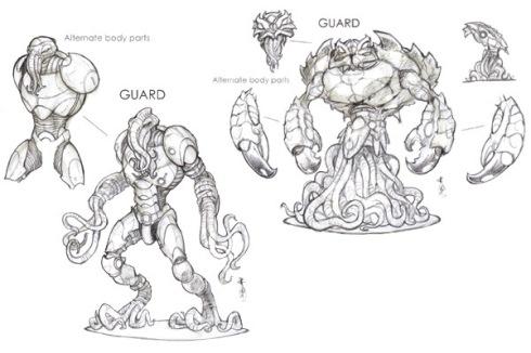 Concept Art de los Guards de los 'Sin nombre'