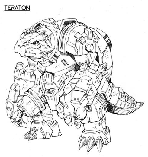 Concept art de la raza Teraton de Dreadball