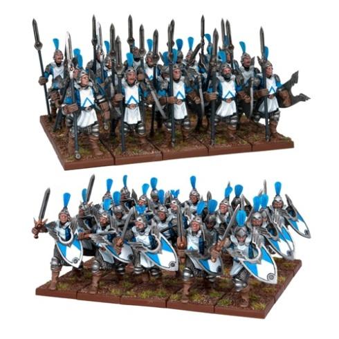 Hombres de Armas Basileanos con lanzas y espadas