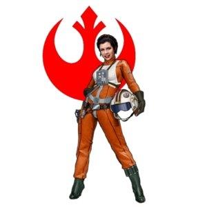 Leia Organa piloto rebelde