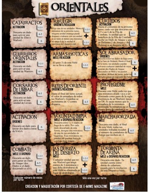 tabla combate SAGA en ORIENTALES con escudo copiar